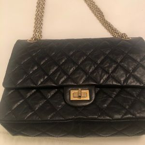 CHANEL Calfskin Quilted 2.55 Medium Flap